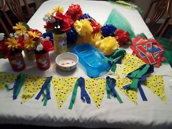 Snoopy Party Decorations Centerpieces Pennant Banners Tissue Flower Balls