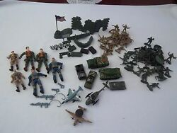 Army Action Toy Soldiers Military Playset Tanks Airplanes Mixed Lot 88 Pieces