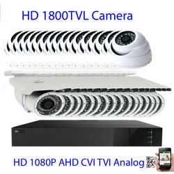 32ch All-in-1 1080p Dvr 1800tvl 24/72ir Cut Security Camera System Dome/bullet