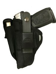 Gun Holster Fits Smith And Wesson Sigma 40ve, 9ve Black Nylon Owb
