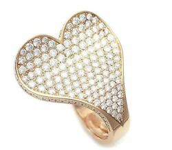 Roger Dubuis Ref M151.5A10.20 Be Heart Ring Diamond K18 Gold Size #49 Used Ex++