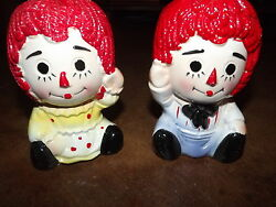 Raggedy Ann And Andy Giftwares Co Nancy Pew Japan Planters Collectibles