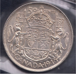 Canada 1946 Fifty Cents Design In 6