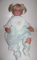 Pampers Kid Blonde Blue Eyes Cloth And Vinyl Doll By Reva Schick Lee Middleton 21