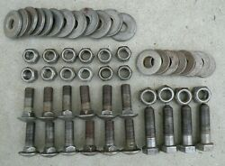 Cadillac Front Bumper Bracket Nuts Bolts Round Flat Washers 1963-1964 63-64 Oem