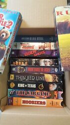 Lot Of 11 Vhs Tapes, Rudy, Doctor Dolittle 2, Thin Red Line And Others
