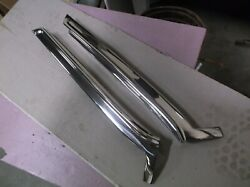 1961-64 Lincoln Continental Exterior Side Windshield Pillars Stainless Polish