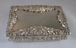 Antique Sterling Silver Table Snuff Box By Nathaniel Mills Birmingham 1827