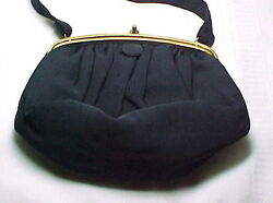 BEST amp; CO FIFTH AVE NEW YORK VINTAGE EVENING BAG NAVY BLUE NICE $50.00