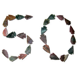 Lot Of 50 Arrowheads Authentic Hand Crafted Stone Arrow Heads Randomly Picked