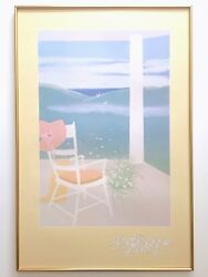 Mac Squires Rare 1981 Lithograph Print Framed Contemporary Poster Lost Afternoon