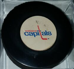1977-83 Washington Capitals Vintage Nhl Viceroy Canada Official Game Used Puck