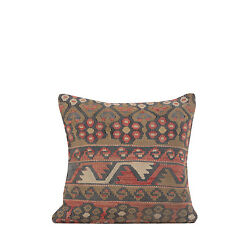 16 X 16 Pillow Cover Kilim Pillow Cover Vintage Fast Shipment With Ups 10949