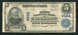 1902 5 The First National Bank Of Blackstone, Va National Currency Ch. 9224