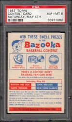 1957 Topps  Cc1 Contest Card Saturday, May 4th Psa 8 30911062