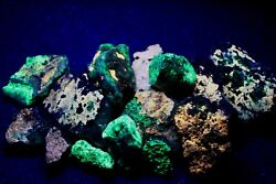 Fluorescent Minerals Samples From Southern Mendoza Argentina.