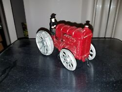 Vintage Cast Iron Toy Fordson Tractor John Wright Usa