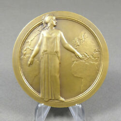 French Medal. Woman Marianne France Female Gallia Greek 1828 1928. By Niclausse.