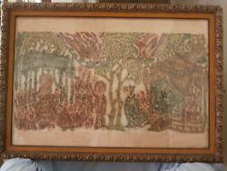 1 Large Antiques Chinese Scroll Of Spirits Of Tombs On Rice Paper Signed Seal