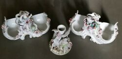 Vintage Wales Bone China Victorian Figurines Made In Occupied Japan