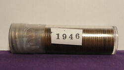 1946 - P Lincoln Wheat Head Cent Pennies - Roll Of 50 Circulated