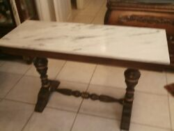 Antique French Empire Console Hall Pier Table Marble Top