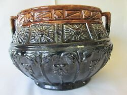 Early Jardiniere Vintage Roseville Art Pottery Large Size 16 3/4 Excellent