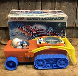 Rare Vintage Lunar Bulldozer Mystery Action Battery Toy By Nomura Japan W/box