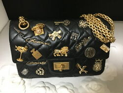 Chenel Lucky Charms Symbol Wallet Chain Shoulder Bag 17A Limited Rare 2.55