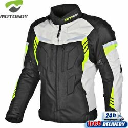 Motorcycle Jacket Waterproof Warm Liner CE Protectors Coat Four Season Wear Suit