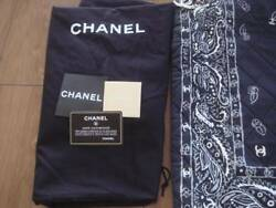 Chanel Bandana Pattern Chain Shoulder Bag Rare Design Ex++