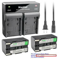 Kastar Battery Dual Rapid Charger For Samsung Sb-l320 And Samsung Vm-c300 Vmc300