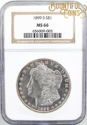 1899 S Ngc Ms 66 Morgan Silver One Dollar 1 Mint State Toned M138