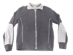 Calvin Klein Cardigan Zip Up Jacket Waffle Thermal W Contrasting Arm Patches