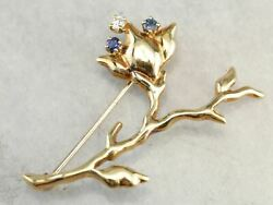 Vintage And Company Flower Brooch