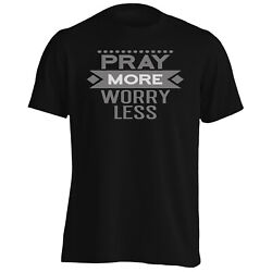 Pray More Worry Less Menand039s T-shirt/tank Top Hh351m