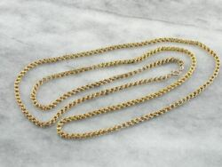 Opera Length Long Vintage Gold Chain With Gorgeous Decorative Links