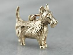 Vintage Scottish Terrier Charm Pendant