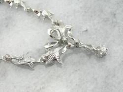 Diamonds And Flowers 18k White Gold Necklace