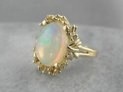 Flowing And Swirling Vintage Opal Cocktail Ring