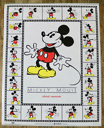 Lorus Watches Mickey Mouse Vintage Promotional Poster Walt Disney