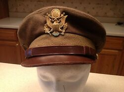Military Hat Vintage Wwii Era Us Military Army Hat Wool Size 7 United States