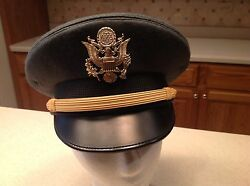United States Military Hat Cap Army Wool Green King Form Visor Size 6 7/8