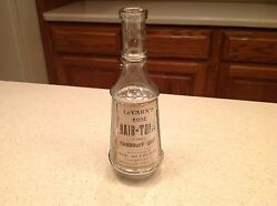 Antique Barber Hair Tonic Bottle Apothecary Le Varnand039s Granville New York