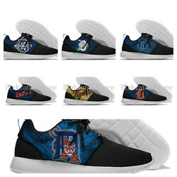 Detroit Tigers Menand039s Womenand039s Lightweight Shoes Sneakers Baseball New Designs