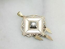 Diamond Pendant Made With Vintage And Antique Components