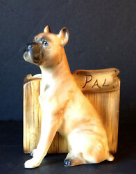 Boxer Dog Ceramic Planter #x27;Pal#x27;