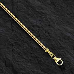 18kt Solid Gold Franco Curb Box Link 20 2.5 Mm 23 Grams Pendant Chain Necklace