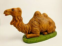 Hand Painted Italy Large Camel Manger Creche Nativity Piece Christmas