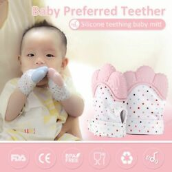 Baby Gloves Teether Pacifier Mittens For Newborn Infant Pastel Polyester Unisex